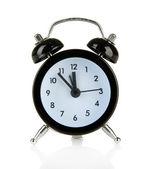 白で隔離される古いスタイル目覚まし時計 — ストック写真