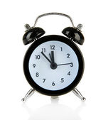 Antiguo reloj despertador de estilo aislado en blanco — Foto de Stock