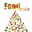 Stock Photo: Food mix isolated on white