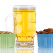 Stock Photo: Beer in glass,crouton