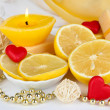 Romantic lighted candles close up — Stock Photo #27727851