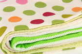 Kitchen towels isolated on white — Stock Photo