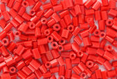 Red beads close-up — Stok fotoğraf