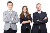 Partnerów biznesowych na białym tle — Zdjęcie stockowe