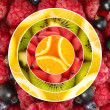 Colorful healthy fruit-berry collage — Stock Photo