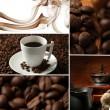 Coffee collage — Stock Photo