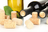 Wine and corks close up — Stock Photo