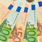 Euro banknotes isolated on white — Stock Photo