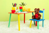 Modern child's room with equipment and toys — Stockfoto