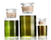 Medizin-flaschen, die isoliert auf weiss — Stockfoto