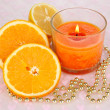 Romantic lighted candles close up — Stock Photo #27840011