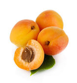 Apricots on white — Stock Photo