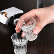 Problem of alcoholism close-up — Stock Photo