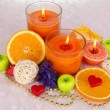 Romantic lighted candles close up — Stock Photo #27964903