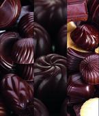 čokoládové koláž — Stock fotografie