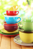 Mountains colorful dishes close-up — Stock Photo