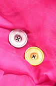 Two buttons on pink background — Stock Photo