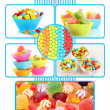 Collection of colorful candies — Stock Photo