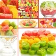Collage of colorful candies — Stock Photo #28014393