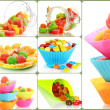 Collage of colorful candies — Stock Photo #28014467