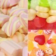 Collage of colorful candies — Stock Photo #28014537