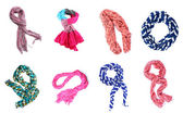 Collage of scarves — Stock Photo