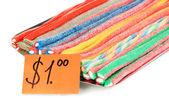 Sprzedaż słodkie cukierki-pralinki na białym tle — Zdjęcie stockowe