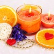 Romantic lighted candles close up — Stock Photo #28071745