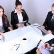 Stock Photo: Group of business people having meeting together