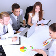 Group of business people having meeting together — Stock Photo #28072253