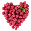 Ripe sweet raspberries isolated on white — Stock Photo #28073033