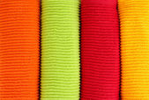 Colorful towels close-up background — Stock Photo