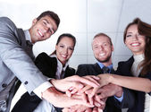 Business team working together in office close up — Foto Stock