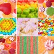 Collage of colorful candies — Stock Photo #28086657
