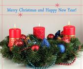 Krásný vánoční věnec — Stock fotografie