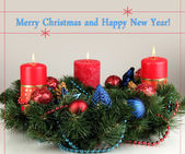 Beautiful Christmas wreath — Stock Photo