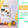 Stock Photo: Beautiful kitchen interior