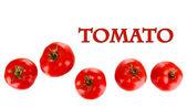 Ripe tomatoes isolated on white — Stock Photo