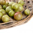 Ripe gooseberry isolated on white — Stock Photo #28103435