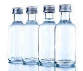 Minibar bottles, isolated on white — Stock Photo