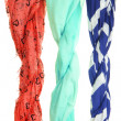 Stock Photo: Colored scarves isolated on white