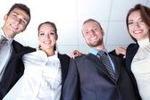 Equipe de negócios, trabalhando juntos no escritório fechar — Foto Stock