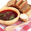 Delicious borsch isolated on white — Stock Photo #28293997