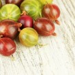 Stock Photo: Fresh gooseberries on table close-up