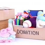 Donation box isolated on white — Stock Photo #28307143