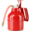 Stock Photo: Red oil can, isolated on white