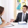Job applicant having interview — Stock Photo