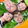 Stock Photo: Happy group of young people in park