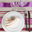 Table setting festive table — Stock Photo #28527337