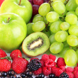 Fresh fruits and berries close up — Stock Photo #28529527